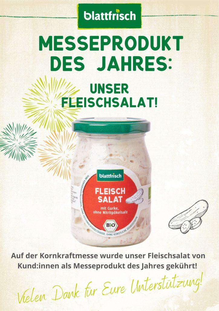Blattfrisch-Fleischsalat Messeprodukt des Jahres 2021